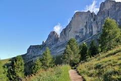 Den Rosengarten gruppen, Dolomites Royaltyfri Fotografi