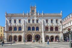 Den Rossio järnvägen posterar, Lisbon Royaltyfria Foton