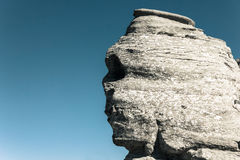 Den rumänska naturliga monumentet kallade Sfinx Arkivbild