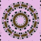 Den runda blicken på den rosa bakgrunden stock illustrationer