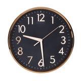 Den runda klockan visar halva förbi nio Royaltyfri Fotografi