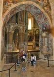 Den runda kyrkan av kloster royaltyfri fotografi