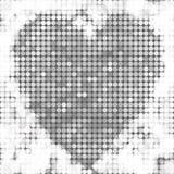 Den runda silvermosaiken spots hjärta Royaltyfri Fotografi