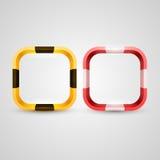 Den rundade rektangelsymbolen baserar Arkivbild