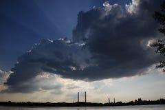 Den ruskiga himlen Arkivbild