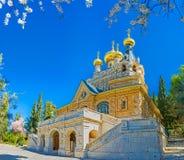 Den ryska kyrkan i Jerusalem Arkivfoton