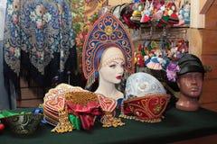 Den ryska souvenir shoppar. Moskva Arkivbilder