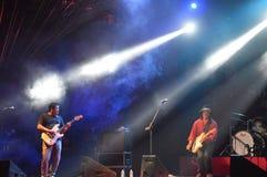 Den södra asiatet sätter band festivaler arkivbild