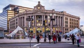 Den södra stationen i Boston, Massachusetts, USA Arkivfoton