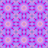 Den sömlösa abstrakt begrepprundan blomstrar rosa violetta magentafärgade turkosblått Royaltyfria Foton