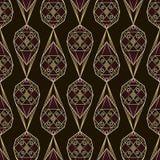 Den sömlösa antika decoen snör åt modellprydnaden Geometrisk backgroun Royaltyfri Fotografi