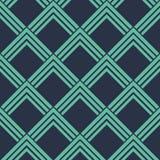 Den sömlösa art déco för neonblåtttappning som pekar fyrkanter, mönstrar vektorn Royaltyfria Bilder