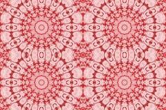 Den sömlösa blom- cirkeln smyckar röda rosa färger Arkivbild