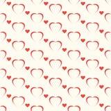 Den sömlösa geometriska modellen, röd hjort på vit bakgrund, band gör sammandrag mallen, vektorillustration Arkivfoto