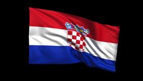 Den sömlösa kretsa Kroatien sjunker att vinka i vinden, den alfabetiska kanalen är inklusive stock illustrationer