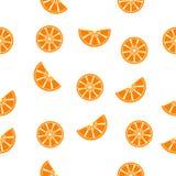 Den sömlösa modellapelsinen skivar vektorn Arkivfoto