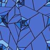 Den sömlösa modellen av geometriskt steg blommor Royaltyfri Bild