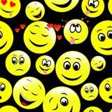 Den sömlösa modellen av smileyen vänder mot att uttrycka olika känslor Fotografering för Bildbyråer