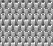Den sömlösa modellen för bakgrund för vitabstrakt begrepp som 3d göras av det konstiga röret, anmärker Fotografering för Bildbyråer