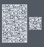 Den sömlösa modellen för mall för dekorativ panel Royaltyfri Bild