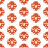 Den sömlösa modellen med apelsinen skivar vektorillustrationen Fotografering för Bildbyråer