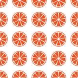 Den sömlösa modellen med apelsinen skivar vektorillustrationen Arkivbild