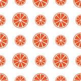 Den sömlösa modellen med apelsinen skivar vektorillustrationen Arkivbilder