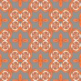 Den sömlösa spiralen smyckar orange grå vit Arkivfoton