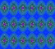 Den sömlösa vanliga diamanten pattren röd blå gräsplan stock illustrationer