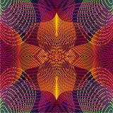 Den sömlösa vektorträskon med hypnotiserar den släta linjen Retro psychedelic bakgrund Abstrakt vektorlutning Arkivfoto