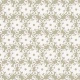 Den sömlösa vita blomman snör åt modellvektorn Arkivbilder