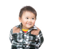 Den söta asiatet behandla som ett barn pojken Royaltyfri Bild