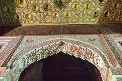 Den Saadian gravvalvmausoleet i Marrakech Marocko, Afrika royaltyfria foton