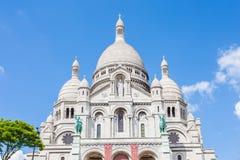 Den Sacre Coeur basilikan i Paris, Frankrike Royaltyfria Bilder
