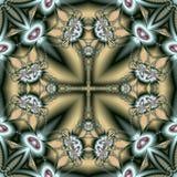 Den sagolika openwork modellen i form av snöflingor eller snör åt Royaltyfria Bilder