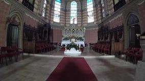 Den sakrala hjärtadomkyrkan Katedrala Srca Isusova är en katolsk kyrka i Sarajevo gemensamt refe arkivfilmer