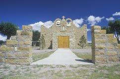 Den sakrala hjärtakyrkan eller beskickningen i nya Quemado - Mexiko arkivfoto