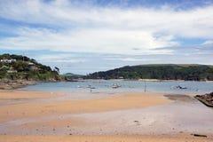 Den Salcombe norden sandpapprar Devon Fotografering för Bildbyråer