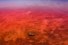 Den salt kusten av Lagunaen Salada de Torrevieja spain arkivfoto