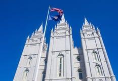 Den Salt Lake City mormontemplet Arkivfoton