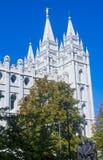 Den Salt Lake City mormontemplet Arkivbilder