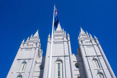 Den Salt Lake City mormontemplet Royaltyfri Fotografi