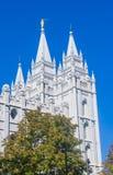 Den Salt Lake City mormontemplet Royaltyfria Bilder