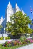 Den Salt Lake City mormontemplet Arkivbild