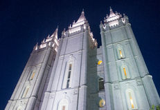 Den Salt Lake City mormontemplet Royaltyfria Bilder
