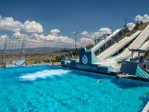 Den Salt Lake/Park City OS:en parkerar, Utah, Förenta staterna: [skidar hopp, och boben i OS:en parkerar museet royaltyfri foto