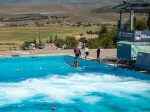 Den Salt Lake/Park City OS:en parkerar, Utah, Förenta staterna: [skidar hopp, och boben i OS:en parkerar museet royaltyfri bild