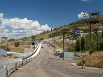 Den Salt Lake/Park City OS:en parkerar, Utah, Förenta staterna: [skidar hopp, och boben i OS:en parkerar museet royaltyfri fotografi