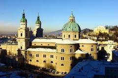 Den Salzburg domkyrkan Arkivbild