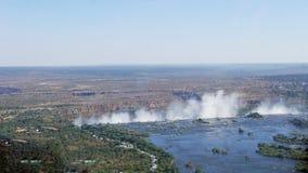 Den Sambesi floden för avbrotts-avkanten royaltyfri bild